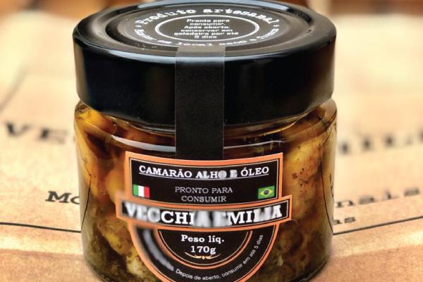 CAMARÃO ALHO E ÓLEO - VECCHIA EMILIA
