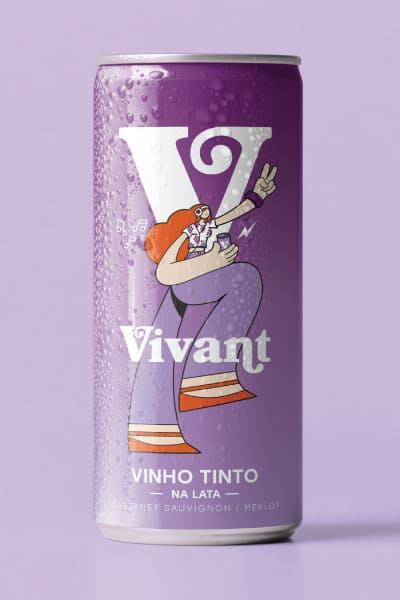 VINHO TINTO EM LATA - VIVANT