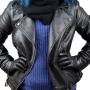 kit meia térmica  e luva feminina em pelica 100% legítima e toda forrada