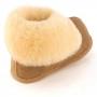 Pantufa Classic Caramelo toda em Lã de Carneiro Legítima