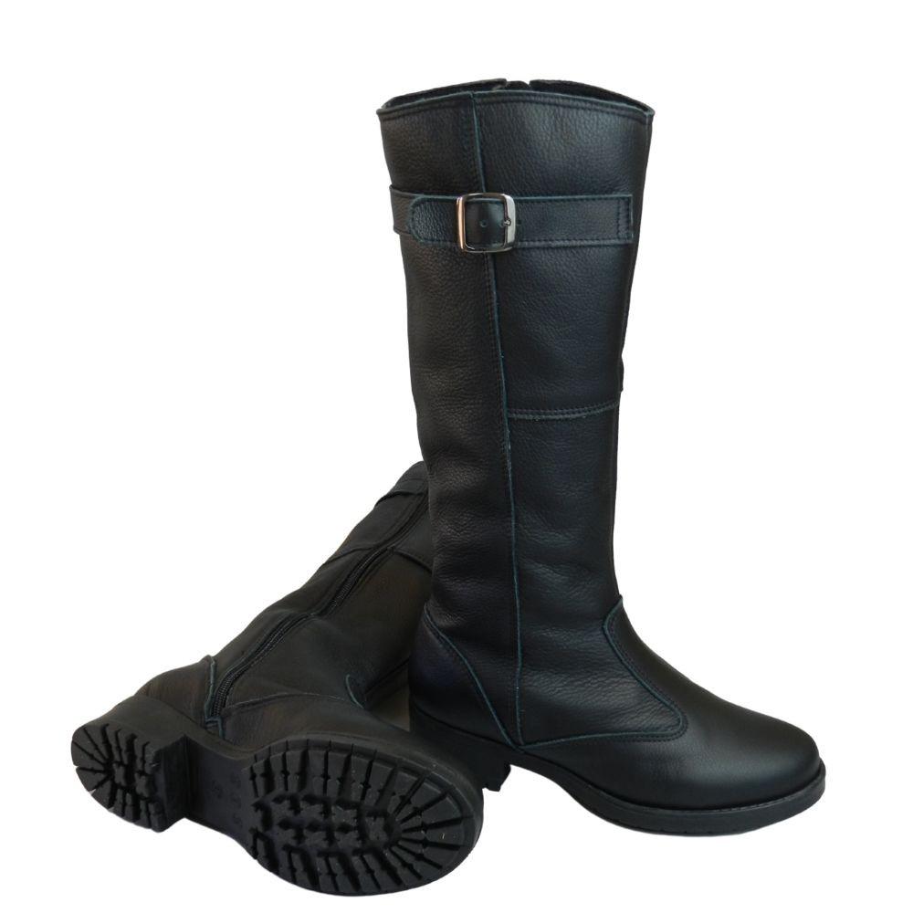 Bota  Plus Size para o dia a dia  em couro legítimo (mod. Dinamarca )