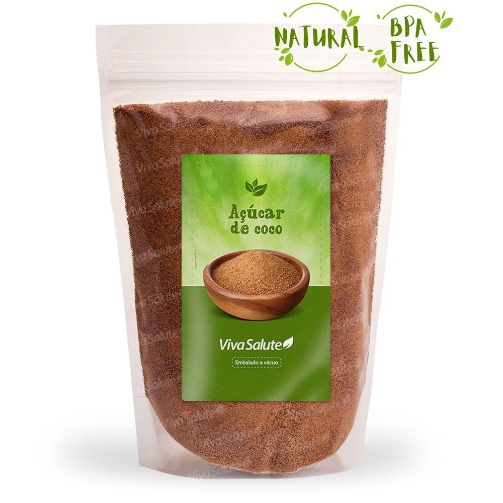 Açúcar de Coco Natural Viva Salute - 1Kg