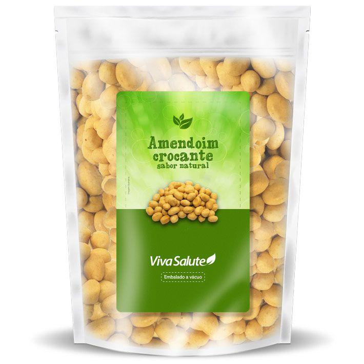 Amendoim Crocante Sabor Natural Viva Salute - 1 Kg