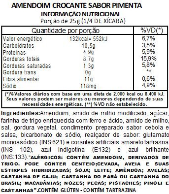 Amendoim Crocante Sabor Pimenta Viva Salute - 1Kg
