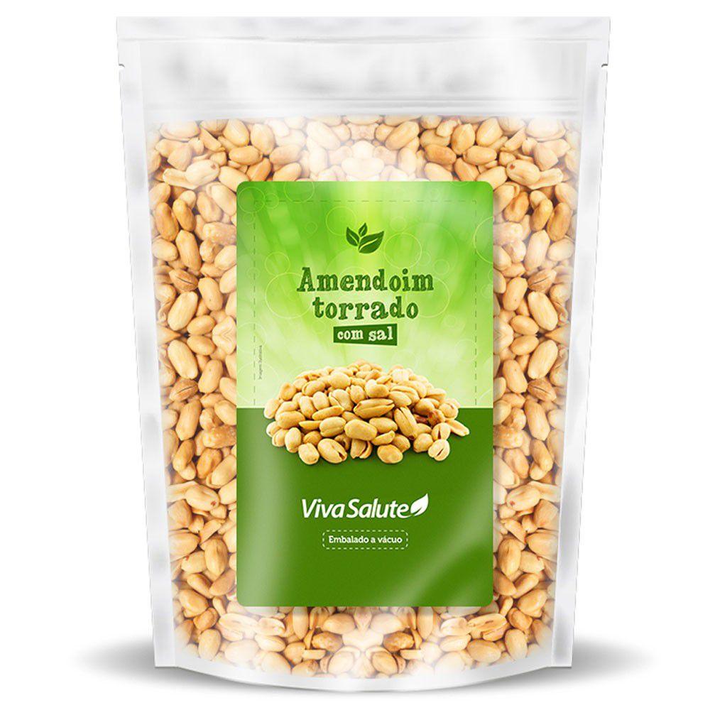 Amendoim Torrado Com Sal Sem Pele Viva Salute a Vácuo - 1Kg