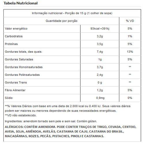 Amendoim Torrado Sem Sal Sem Pele Viva Salute a Vácuo - 500g