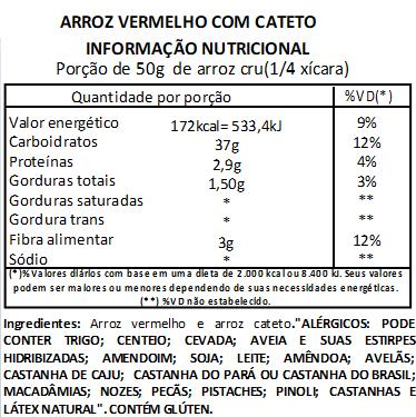 Arroz Vermelho Com Arroz Cateto a Vácuo- 1Kg