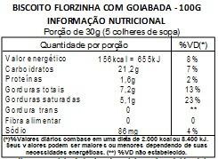 Biscoitinho Florzinha com Recheio de Goiaba - 100g