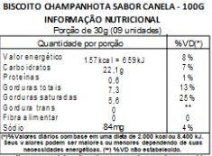 Biscoito Champanhota de Canela - 100g