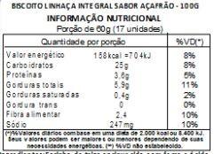 Biscoito de Linhaça Integral Sabor Açafrão - 100 g