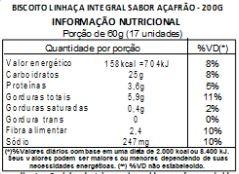Biscoito de Linhaça Integral Sabor Açafrão - 200 g