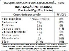 Biscoito de Linhaça Integral Sabor Açafrão - 500 g