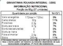 Biscoito Gravatinha Massa Integral - 100g