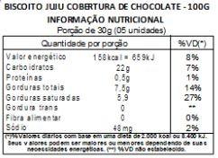 Biscoito Metade Chocolate Juju Sasha - 100g
