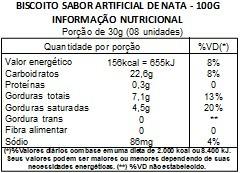 Biscoito Rosca de Nata Amanteigado - 100g