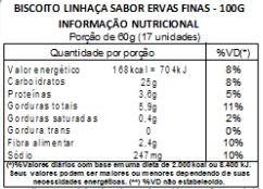Bolacha de Linhaça com Ervas Finas - 100g