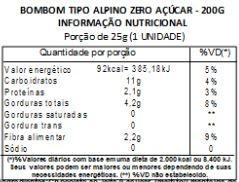 Bombom Alpino - zero açúcar - 200g