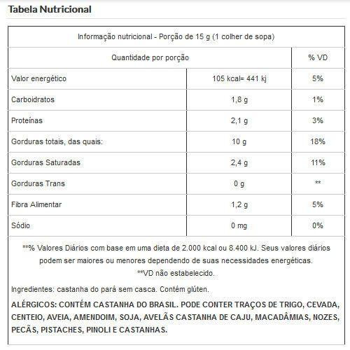 Castanha do Pará Sem Casca Inteira Embalada a Vácuo - 200g