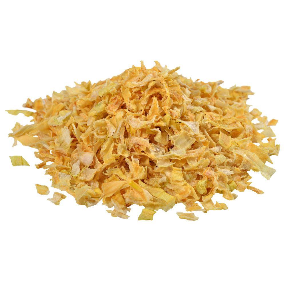 Cebola Desidratada em Flocos Embalada a Vácuo - 1kg