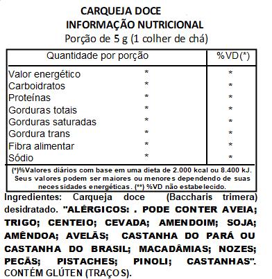 Chá Carqueja Doce -200 g