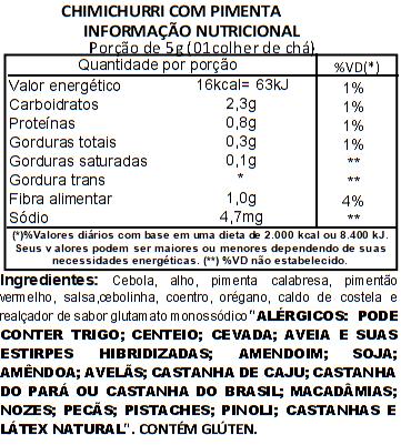 Chimichurri com pimenta (Tempero) Viva Salute - 1kg