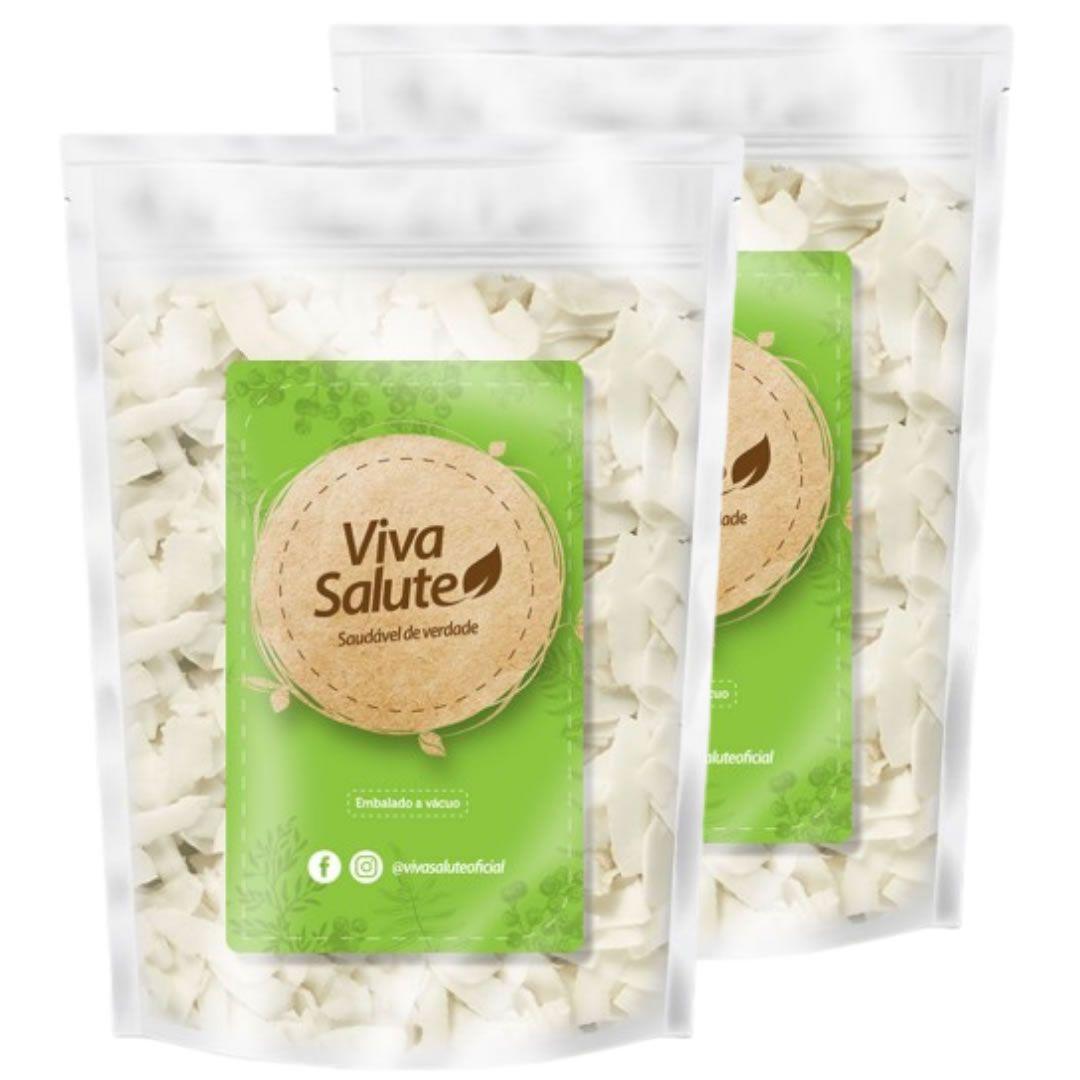 Chips de Coco (Natural) Viva Salute a Vácuo - 1kg