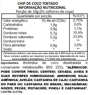 Chips de Coco Tostado Viva Salute a Vácuo - 200g