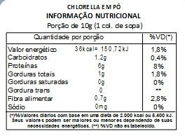 Chlorella em Pó Pura - Com laudo 100g