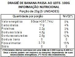 Chocolate Dragee de Banana passa - ao leite - 100g