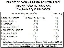 Chocolate Dragee de Banana passa - ao leite - 200g