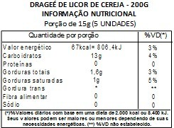 Chocolate Dragee de Licor de Cereja - ao leite - 100g