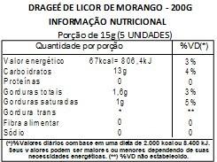Chocolate Dragee de Licor de Morango - ao leite - 200g