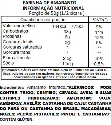 Farinha de Amaranto Viva Salute - 200g