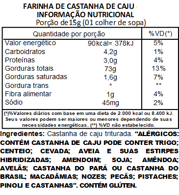 Farinha de Castanha de Caju Viva Salute - 500g