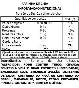 Farinha de Chia Viva Salute - 200g
