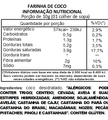 Farinha de Coco Branca Pura Viva Salute - 1Kg