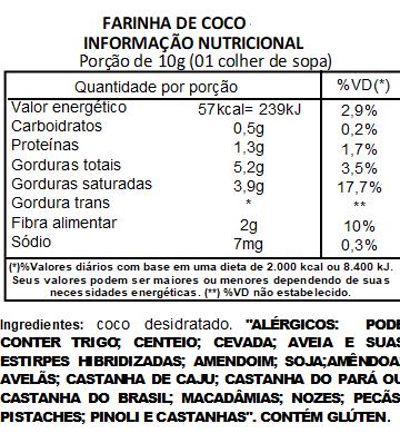 Farinha de Coco Branca Pura Viva Salute - 200g