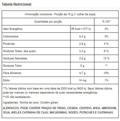 Farinha de Coco Branca Pura Viva Salute - 500g
