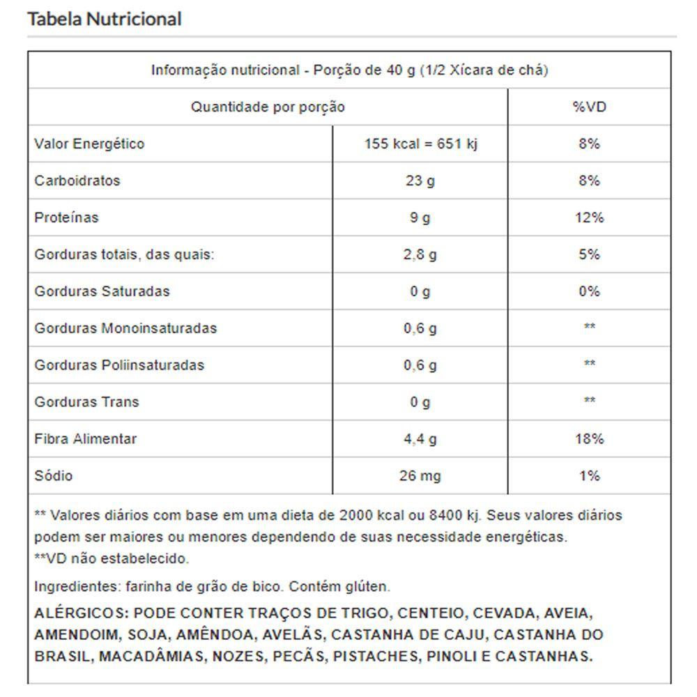 Farinha de Grão de Bico Pura Viva Salute - 500g
