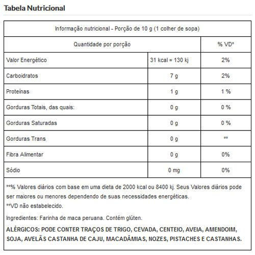 Farinha de Maca Peruana Pura Viva Salute - 500g