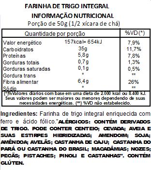 Farinha de Trigo Integral Viva Salute - 200g