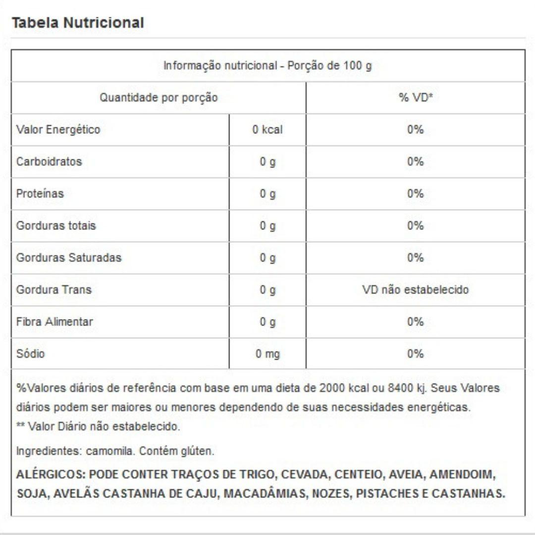 Flor de Camomila Viva Salute Embalada a Vácuo - 1kg