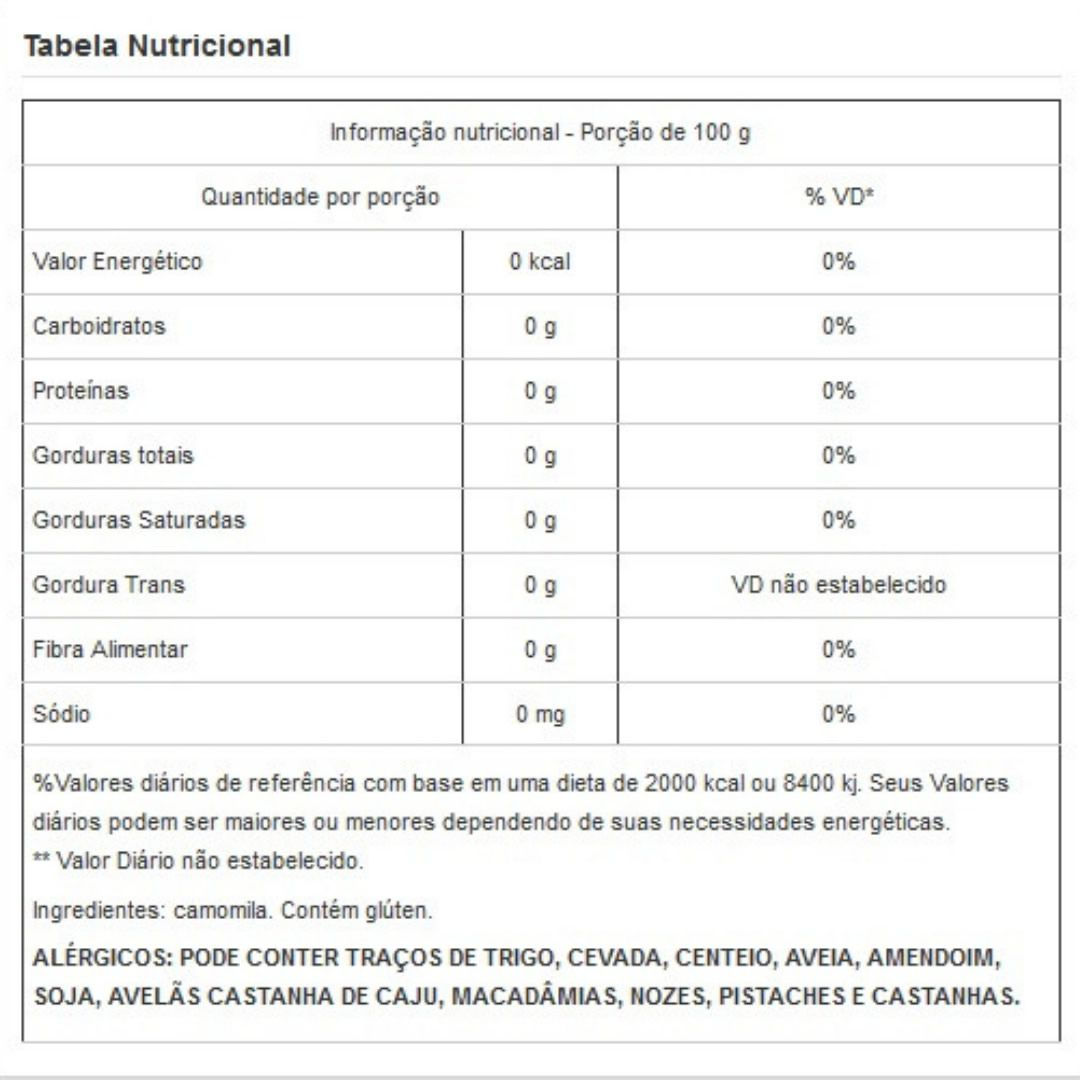 Flor de Camomila Viva Salute Embalada a Vácuo - 200g