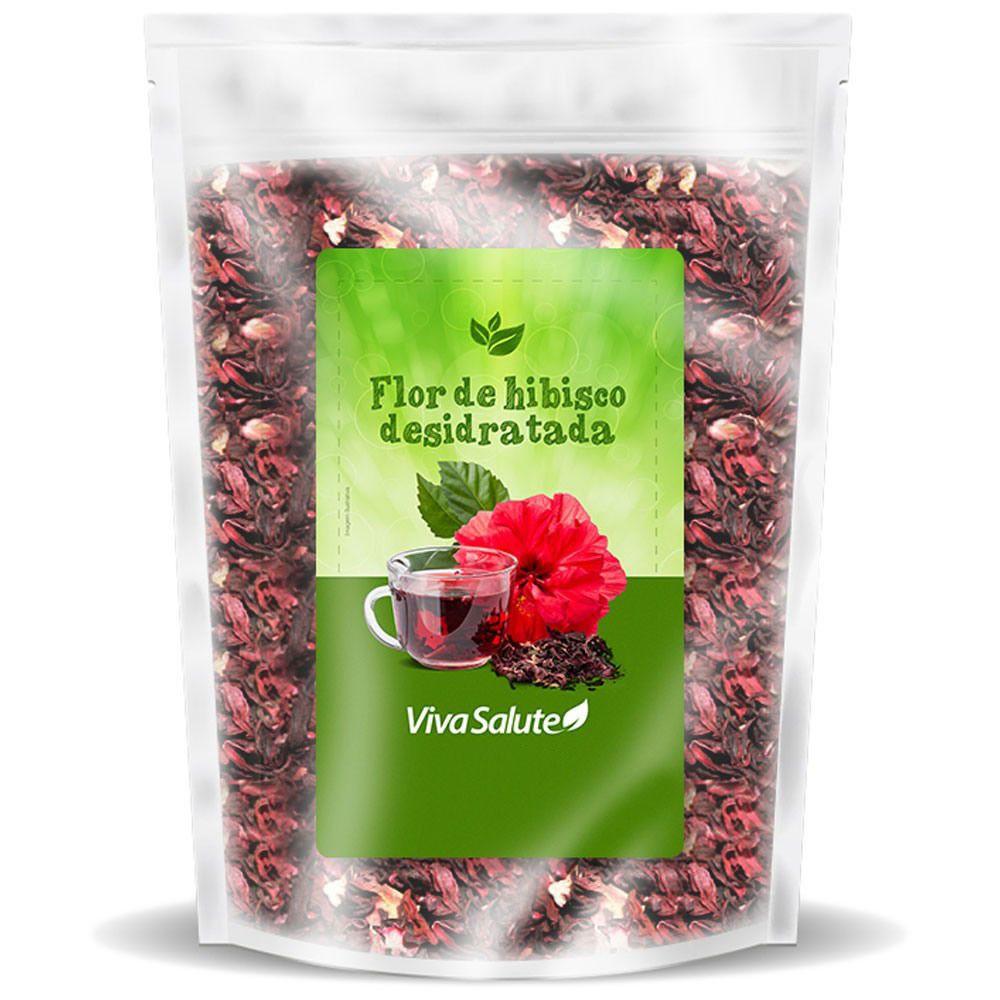 Flor de Hibisco Desidratada Para Chá Viva Salute - 200g