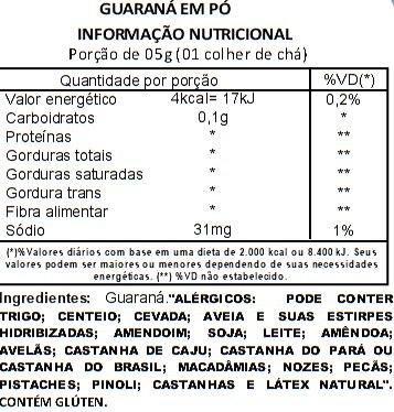 Guaraná em Pó Viva Salute - 200 g