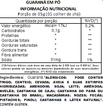 Guaraná em Pó Viva Salute - 500g