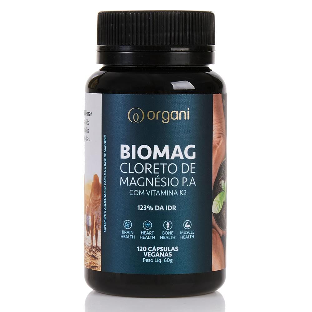 Kit Biomag Cloreto de Magnésio com K2 Organi - 3 Unids