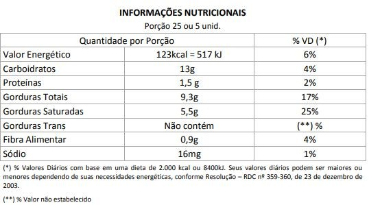 Lingua de Gato - zero açúcar - 200g