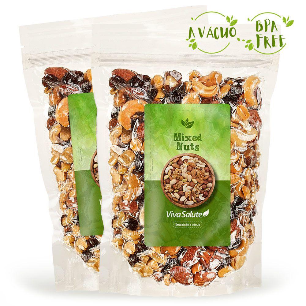 Mix de Castanhas (Mixed Nuts) Premium Viva Salute - 2x500g