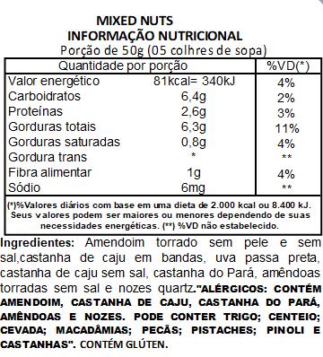Mix de Castanhas (Mixed Nuts) Premium Viva Salute - 500g